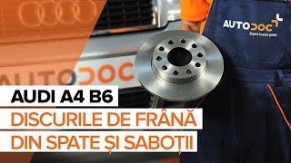 Montare Placute Frana spate si față AUDI A4 (8E2, B6): video gratuit