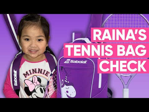 Kids Tennis Bag Check | What's in a 4 Year Old Girl Tennis Player's Babolat Tennis Bag?