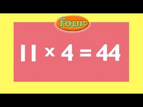 4 Times Tables | Kids Multiplication Song | Children Love to Sing