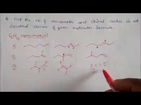Stereocenter and Chiral center-Examples part-1 LN-23 CLASS XI  CHEMISTRY