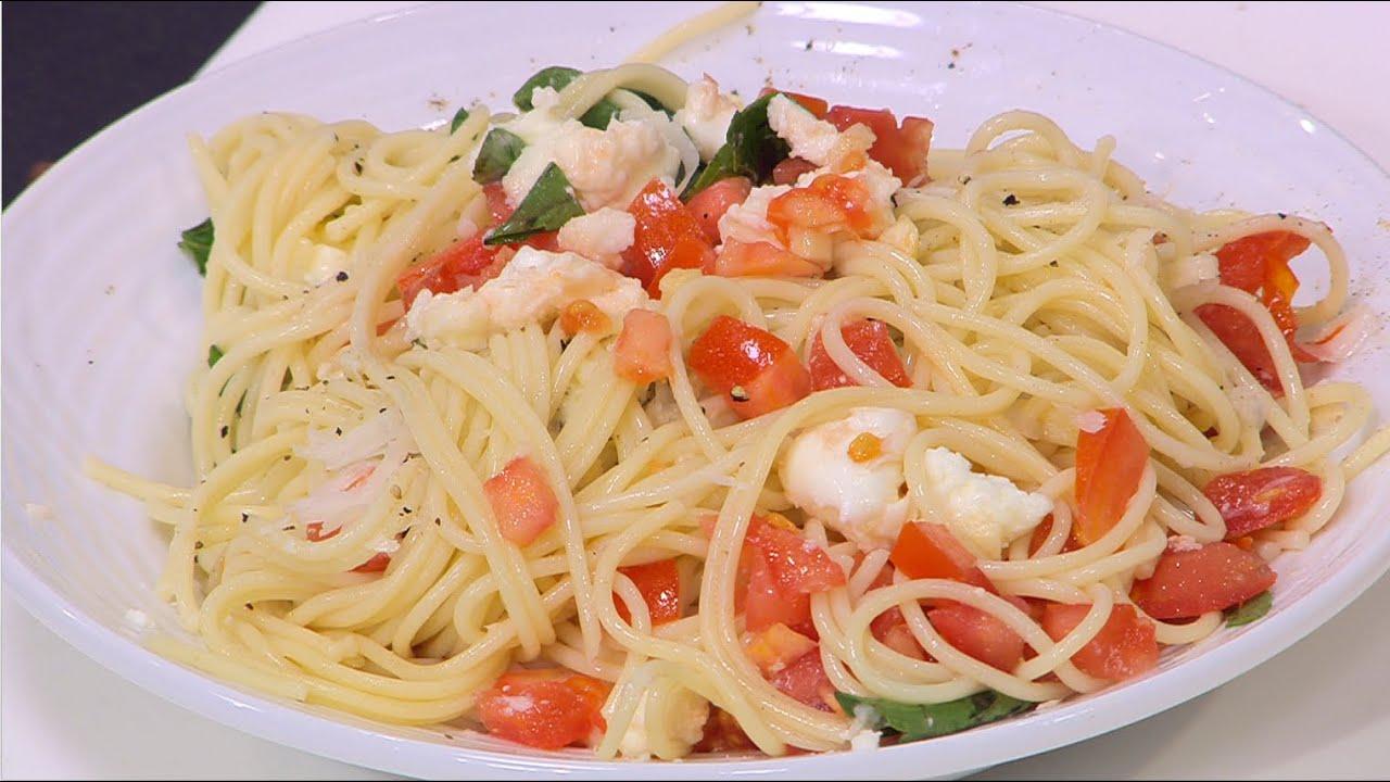 مكرونة بصلصة الطماطم الباردة  - مكرونة بولونيز و وصفات أخرى : عيش وملح حلقة كاملة