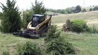 Video still for Virnig Industrial Brush Cutter on Cat 299D Demo 1