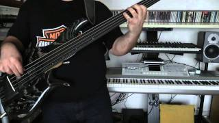 Bass Cover - Roxy Music - Same old scene - with Furlanetto Fbass BNF5 bass