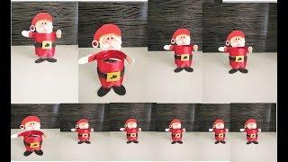 Como Fazer Papai Noel com Garrafa PET – Decoração
