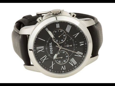 72ebc45a0 FS4812 Fossil Grant Chronograph Mens Leather Watch - Black - YouTube