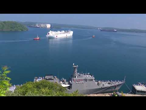 USNS MERCY ARRIVES AT PORT OF TRINCOMALEE