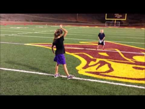 Dominic and Alexiya playing Football at Torrey Pines High School (20130908)