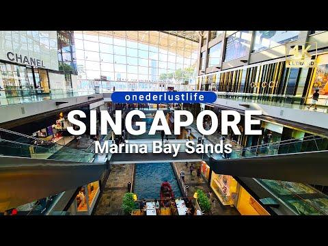 Singapore The Shoppes at Marina Bay Sands Shopping Compilation Tour (4K UHD)
