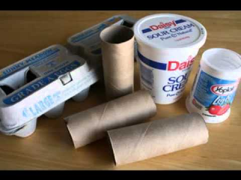 Recycled craft making ideas for kids youtube for Easy recycled materials