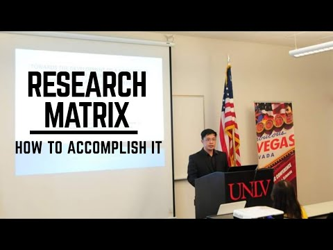How To Write The Research Proposal / Research Matrix  (video 11)
