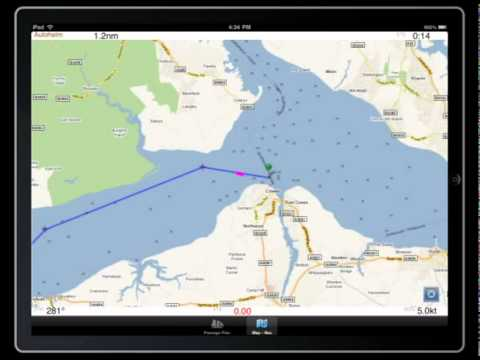 iPlotter for iPad marine passage planner with GPS maps