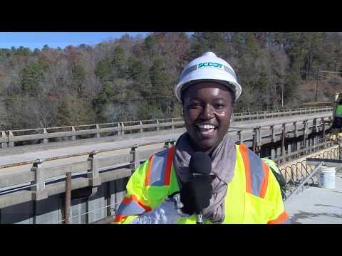 S.C. 9 Broad River Bridge Concrete Pouring