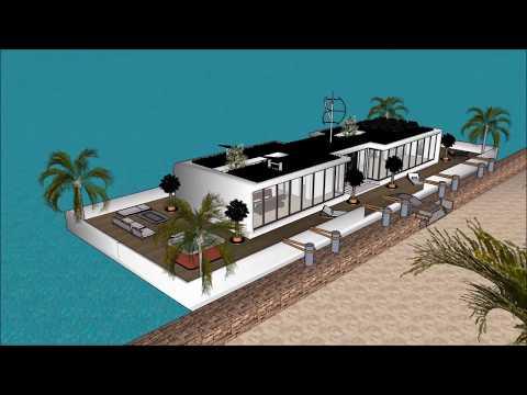 Casa galleggiante Amsterdam Rotterdam Dubai Barca Macgyver floating home ecosostenibile design