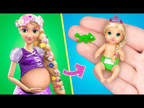15 лайфхаков и поделок для беременной Рапунцель и миниатюрного малыша