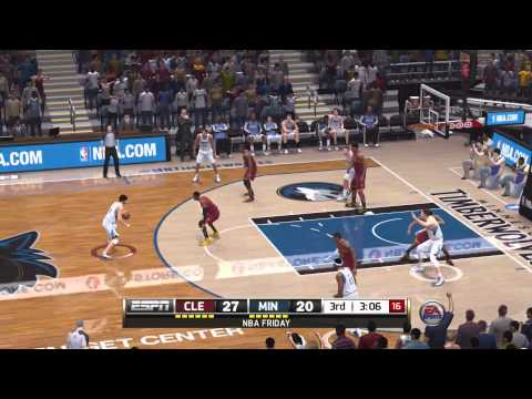 NBA Live 14: PS4 Gameplay (Timberwolves vs Cavs)