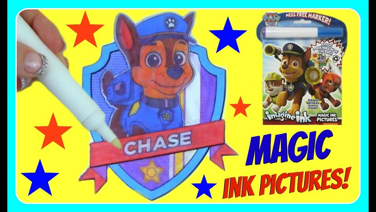 paw patrol imagine ink magic ink pictures paw patrol coloring book coloring pages fun kids youtu - Magic Marker Coloring Book