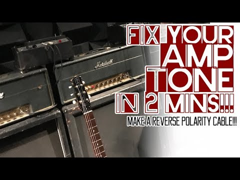 Fix Your Amp Tone In 2 Mins! Make A Reverse Polarity Cable!
