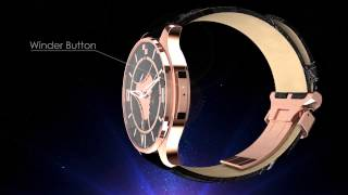 "VCXO ""Magic Button"" Mechanical Watch With GPS Time Synchronization 