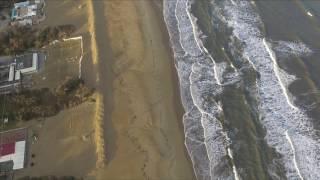 Punta marina mare d'inverno Ravenna Drone