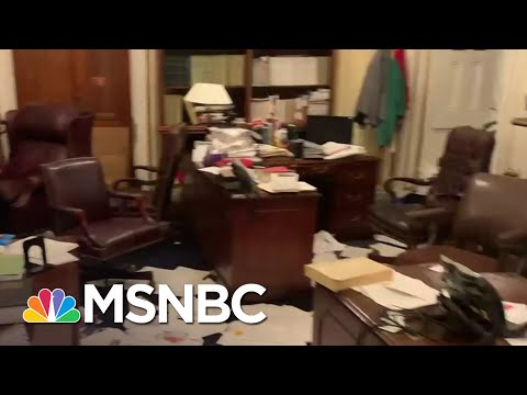Debris And Damage Remains After Pro-Trump Rioters Breached The Capitol | Stephanie Ruhle | MSNBC