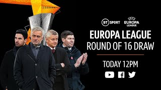 UEFA Europa League 2020/21 Round of 16 draw featuring Man Utd, Arsenal, Spurs and Rangers