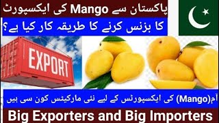 Mango exports from Pakistan, Mango types and Mango growing Areas in Pakistan