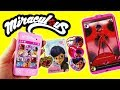 Miraculous Ladybug Toys Marinette's Cell Phone and Case with Charm for Kids