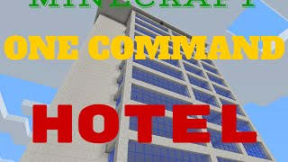Minecraft One Command: Hotel 5 stelle