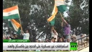 صراع الديوك..استعراضات  على الحدود بين باكستان والهند