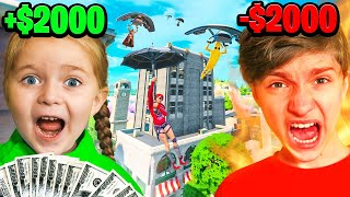 Every KILL My 5 Year Old Sister Gets In *NEW* Fortnite Season = $100!! *Aimbot*