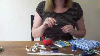 machine sewing basic supplies
