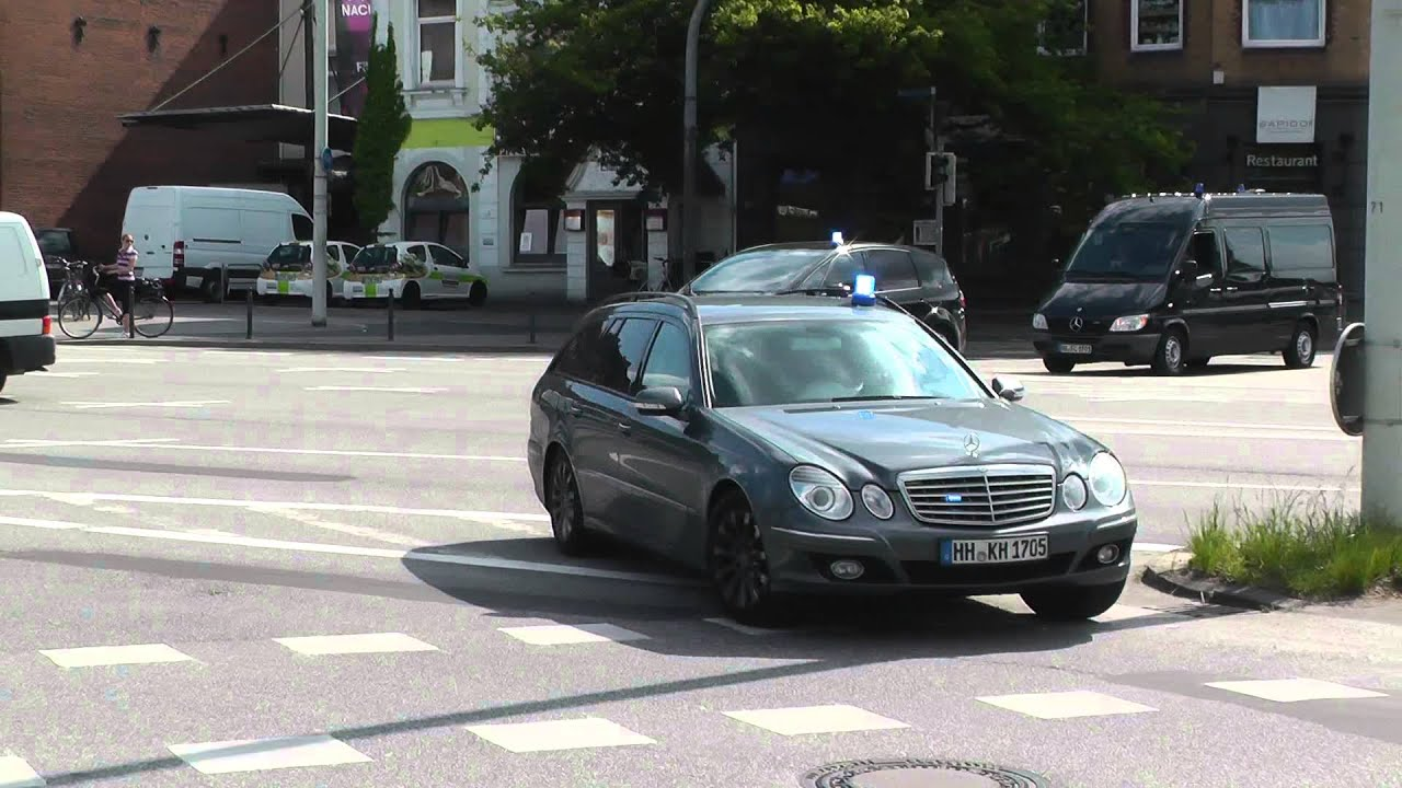 5 zivile fahrzeuge sek einsatzfahrt with loop control
