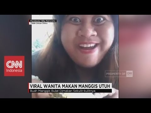 Viral! Wanita Makan Durian Sebijinya & Makan Manggis Utuh