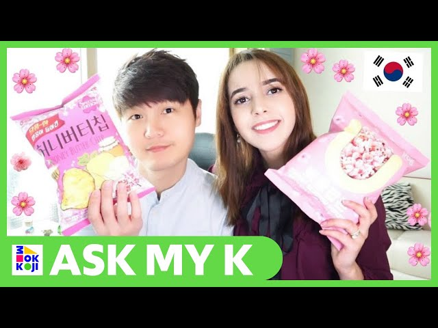 Ask My K : Lee Bambi - My husband and I ate the strangest Korean snacks in Spring #1
