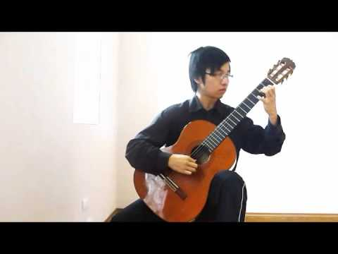 Dang Truong Giang plays Waltz in A minor Op. Posth by Frederic Chopin (Classic Guitar)