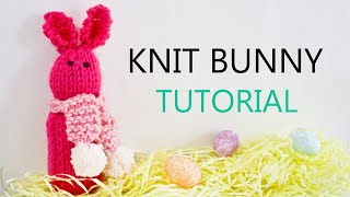 Knit Bunny Decoration Step - by - Step Tutorial | Knitting House Square