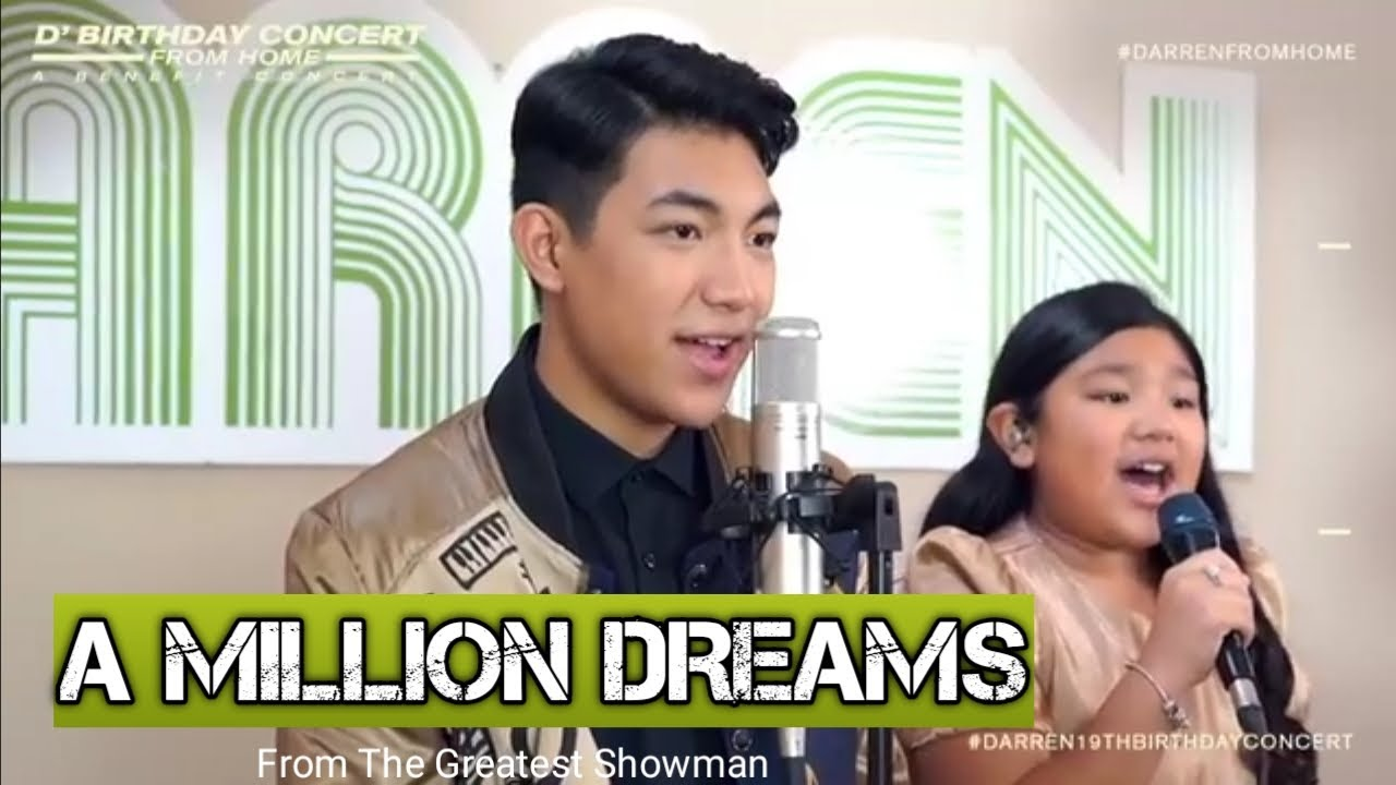 Darren Espanto - A Million Dreams | D' Birthday Concert From Home | Duet with sister Lynelle Es