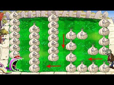 Plants vs Zombies Hack - 1 Chomper vs 9999 Zombie Sivler vs Garlic