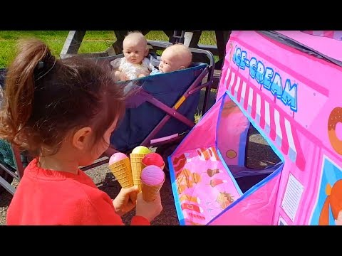 Emily's Ice Cream Truck and  Baby Dolls Ride On Wagon