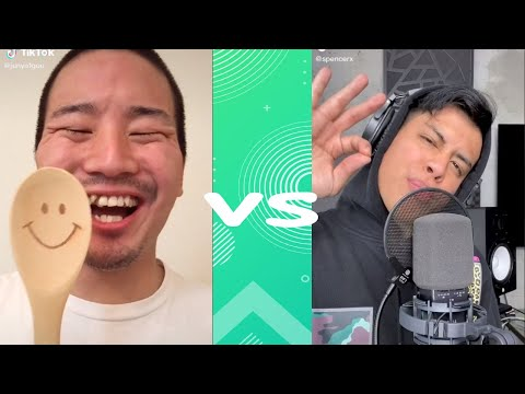 Spencer X  VS junya1gou on BEATBOX tik tok funny compilation-try not to laugh