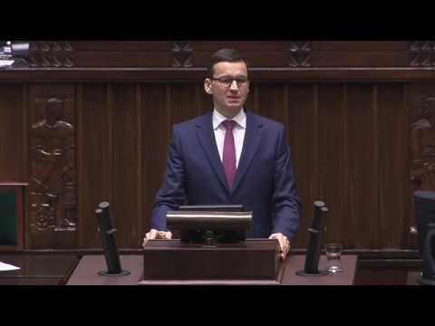 Mateusz Morawiecki odpowiada na pytania posłów po expose
