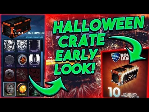 EARLY* HALLOWEEN CRATE SHOWCASE ON ROCKET LEAGUE!! NEW ITEMS ...