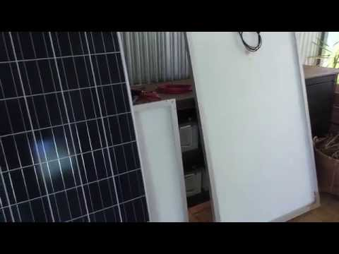 48 volt Off Grid System.  New Solar panels to test