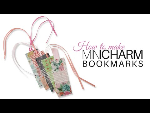 How to make Mini Charm Bookmarks   with Jennifer Bosworth of Shabby Fabrics