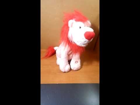 Animated Musical Valentine Plush Love Lion sings What's New Pussycat 13