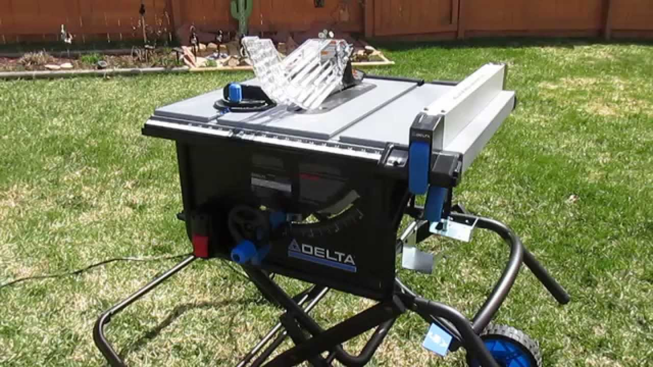 Delta 36 6020 Portable Table Saw With Stand Review Youtube