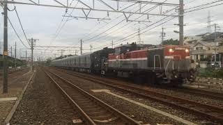 甲種輸送 DE10 1165号機+ヨ8000形+京成3000形(3040F) 二川駅通過