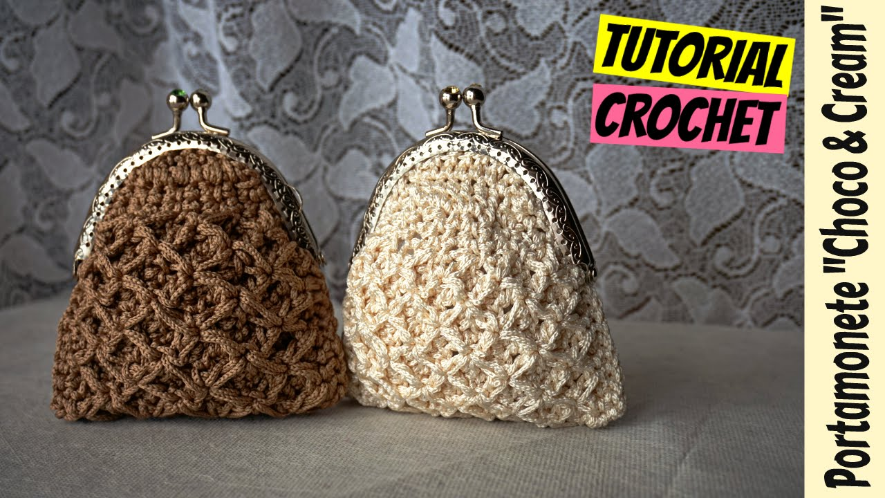 "Eccezionale Tutorial portamonete uncinetto ""Choco & Cream"" 