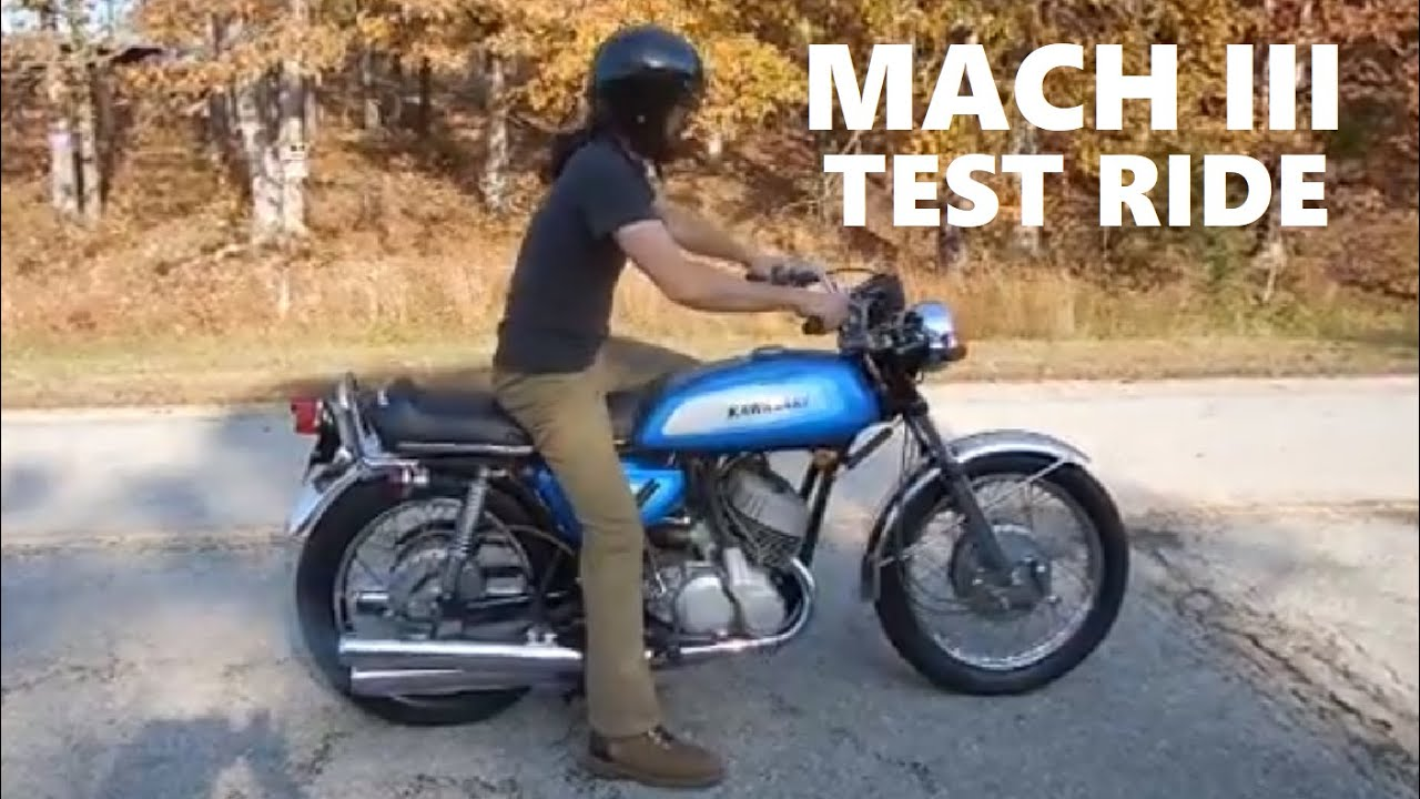 1971 Kawasaki H1 500 Mach III Start up and Test Ride
