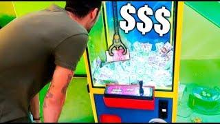 cuanto dinero puedes sacar de la maquina de gancho en menos de un minuto??